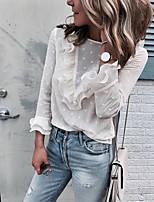 baratos -Mulheres Blusa Básico Renda, Poá
