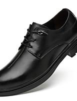 Недорогие -Муж. Официальная обувь Наппа Leather Осень Деловые / На каждый день Туфли на шнуровке Массаж Черный