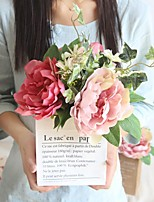 abordables -Fleurs artificielles 1 Une succursale Classique Elégant / Fleurs de mariage Pivoines / Plantes Fleur de Table