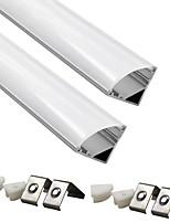 abordables -ZDM® 2pcs 50 cm Accessoire de feuillard Abat-jour Plastique et métal / Aluminium Blanc pour la lumière d'ensemencement de fleurs de bricolage / pour la bande LED