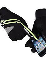Недорогие -Полныйпалец Муж. Мотоцикл перчатки Шелковая ткань Водонепроницаемость / Сохраняет тепло / Защитный