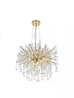 baratos -QIHengZhaoMing 10-luz Sputnik Lustres Luz Ambiente Latão Metal 110-120V / 220-240V Branco Quente