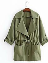 Недорогие -женский рыхлый пальто - сплошной цвет