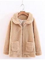 Недорогие -женский искусственный меховой куртки - сплошной цветной пантер-пантер