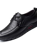 Недорогие -Муж. Комфортная обувь Полиуретан Зима Туфли на шнуровке Черный / Коричневый / Для вечеринки / ужина
