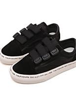 Недорогие -Мальчики / Девочки Обувь Кожа Осень Удобная обувь Кеды На липучках для Дети Черный / Бежевый