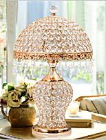 abordables -Artistique Créatif / Décorative Lampe de Table Pour Chambre à coucher / Couloir Cristal 220V Or