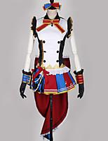 abordables -Inspiré par Aime la vie Cosplay Manga Costumes de Cosplay Costumes Cosplay Multicolore / Mosaïque Robe / Gants / Nœud papillon Pour Homme / Femme