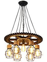 Недорогие -7-Light промышленные Люстры и лампы Потолочный светильник Окрашенные отделки Дерево Дерево / бамбук Творчество 110-120Вольт / 220-240Вольт