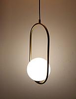 baratos -Circular / Mini Luzes Pingente Luz Ambiente Latão Antiquado Galvanizar Metal Vidro Proteção para os Olhos 110-120V / 220-240V