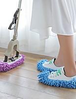 Недорогие -1 пара пылесос шваброй ленивый дом полировка чистка легкий носок обуви колодка случайный цвет