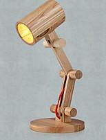 Недорогие -Простой Декоративная Настольная лампа Назначение Спальня / Кабинет / Офис Дерево / бамбук 220 Вольт