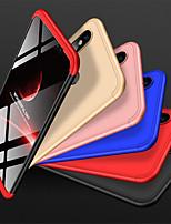 Недорогие -Кейс для Назначение Xiaomi Mi 8 Защита от удара / Матовое Кейс на заднюю панель Однотонный Твердый ПК для Xiaomi Mi 8