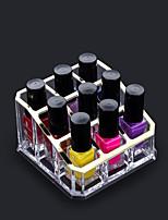 Недорогие -Место хранения организация Косметологический макияж Акрил Квадратная непокрытый / Одиночный слой
