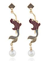 abordables -Femme Classique Boucles d'oreille goujon - Fleur Mode Rouge Pour Soirée Quotidien