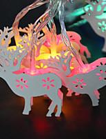 abordables -brelong noël blanc wapiti décoratif chaîne lumière chaude lumière colorée 1 pc