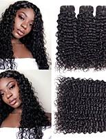 Недорогие -6 Связок Малазийские волосы Прямой Волнистые 8A Натуральные волосы Необработанные натуральные волосы Подарки Человека ткет Волосы Сувениры для чаепития 8-28 дюймовый Черный Ткет человеческих волос