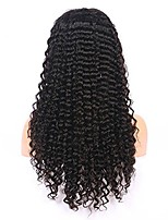 Недорогие -Remy 360 Лобовой Парик Бразильские волосы Кудрявый Парик Ассиметричная стрижка 130% Плотность волос Для вечеринок Классический Удобный Нейтральный Жен. Длинные