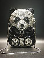 Недорогие -Жен. Мешки PU / Сплав Вечерняя сумочка Кристаллы Животное Черный