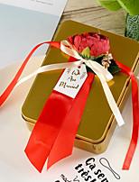 Недорогие -Кубический Металл Фавор держатель с Атласный бант Подарочные коробки - 6шт