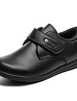 Недорогие -Девочки Обувь Кожа Наступила зима Удобная обувь На плокой подошве На липучках для Дети / Для подростков Черный