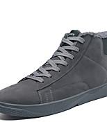 Недорогие -Муж. Комфортная обувь Искусственная кожа Зима На каждый день Кеды Сохраняет тепло Черный / Темно-серый / Красный