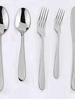 abordables -Vaisselle 5pcs Design nouveau Acier inoxydable Fourchette de table Couteau de table Petite cuillère