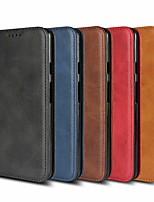 baratos -Capinha Para Samsung Galaxy S9 Plus / S9 Carteira / Com Suporte / Magnética Capa Proteção Completa Sólido Rígida PU Leather para S9 / S9 Plus / S8 Plus
