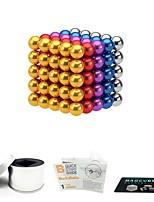 Недорогие -125 pcs 5mm Магнитные игрушки Магнитные шарики Магнитные игрушки Сильные магниты из редкоземельных металлов Магнитный / Стресс и тревога помощи