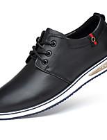 Недорогие -Муж. Официальная обувь Наппа Leather Осень На каждый день / Английский Туфли на шнуровке Массаж Черный / Синий