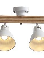 abordables -QIHengZhaoMing 2 lumières Lustre Lumière d'ambiance Laiton Métal 110-120V / 220-240V Blanc Crème