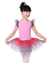 abordables -Danse classique Tenue Fille Entraînement / Utilisation Elasthanne / Lycra Ondulé Sans Manches Jupes / Collant / Combinaison