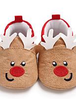 abordables -Garçon / Fille Chaussures Coton Hiver Premières Chaussures / Doublure en fourrure Bottes Scotch Magique pour Bébé Rouge / Noir / Rouge / Amande / Bottine / Demi Botte