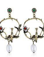 abordables -Femme Classique Boucles d'oreilles - Fleur Mode Or Pour Soirée Quotidien