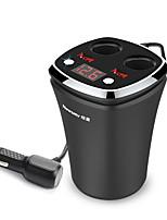 Недорогие -newsmy da-18 12 v безопасность высокого качества прикуриватель 2 USB-порта автомобильное зарядное устройство