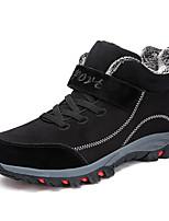 Недорогие -Жен. Комфортная обувь Наппа Leather Зима На каждый день Кеды На плоской подошве Круглый носок Черный / Лиловый / Красный