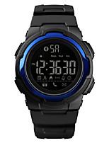 Недорогие -SKMEI Муж. Спортивные часы Армейские часы Цифровой Черный 50 m Bluetooth Календарь Секундомер Цифровой На каждый день Мода - Черный Светло-синий Темно-синий Один год Срок службы батареи / Хронометр