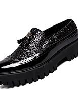 Недорогие -Муж. Комфортная обувь Полиуретан Осень На каждый день Мокасины и Свитер Дышащий Черный