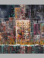 Недорогие -Hang-роспись маслом Ручная роспись - Абстракция Классика / Modern Без внутренней части рамки