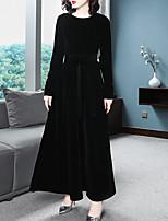 Недорогие -Жен. Классический Оболочка Платье Пэчворк Ассиметричное