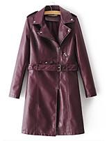 Недорогие -длинное пальто для женщин длинное - сплошной цвет