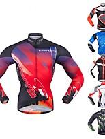 Недорогие -Realtoo Муж. Длинный рукав Велокофты - Red and White Черный / красный Зеленый / черный Классика Велоспорт Верхняя часть Спандекс Polyster / Слабоэластичная
