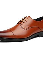 Недорогие -Муж. Официальная обувь Синтетика Весна & осень Деловые / Английский Туфли на шнуровке Нескользкий Черный / Коричневый / Синий