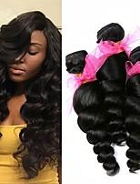 Недорогие -3 Связки Бразильские волосы Вьетнамские волосы Свободные волны 8A Натуральные волосы Необработанные натуральные волосы Подарки Косплей Костюмы Головные уборы 8-28 дюймовый Естественный цвет