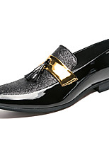 Недорогие -Муж. Официальная обувь Синтетика Весна & осень На каждый день / Английский Мокасины и Свитер Нескользкий Черный / Серебряный