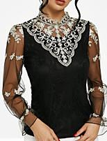Недорогие -женская тонкая рубашка - сплошной цветной подставка