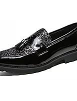 Недорогие -Муж. Комфортная обувь Полиуретан Зима На каждый день Мокасины и Свитер Нескользкий Черный / С кисточками