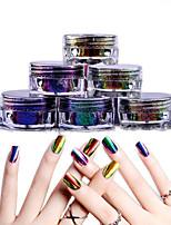 baratos -1 pcs Purpurina Pó Solto Brilho / Amiga-do-Ambiente / Cores Variáveis Inovador arte de unha Manicure e pedicure Diário / Mascarilha / Ação de Graças Na moda / Fashion