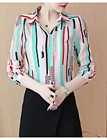 Недорогие -Жен. Рубашка Классический Геометрический принт