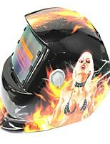 Недорогие -солнечная автоматическая потемнение сварочный шлем 107 беловолосая ведьма